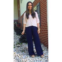 Ootd fuchsia and navy  Check out www.yourstylesos.weebly.com fashion blog