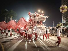 Performers display a dragon dance during a Chinese New Year parade in Hong Kong Philippe Lopez/AFP/Getty Images Chinese New Year Parade, Happy Chinese New Year, Dragon Dance, Lion Dance, Beautiful Dragon, Year Of The Horse, Google Doodles, Asian History, Thinking Day