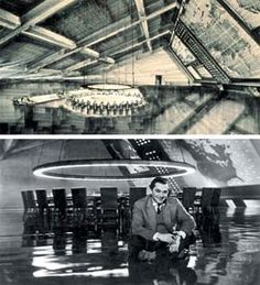 "KEN ADAM   Set design for ""Dr.Strangelove"" 1964"
