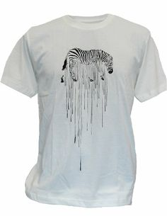 SODAtees melting Zebra Graphic Design Safari Men's T-Shirt graphic tee - White - Large SODAtees http://www.amazon.com/dp/B00KTS0XLE/ref=cm_sw_r_pi_dp_HLNKtb0R4QWPFHVJ
