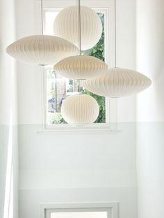 // Bubble Lamps / by George Nelson Stair Lighting, Interior Lighting, Home Lighting, Lighting Design, Pendant Lighting, Jar Chandelier, Hallway Lighting, Ceiling Lighting, Light Pendant