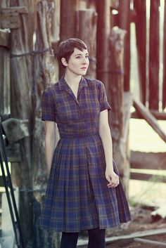 Plaid shirt dress, perfect.