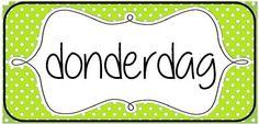 Woordkaarten om de dagen van de week en/of de agenda aan bord te visualiseren. © Sarah Verhoeven School Posters, Speech And Language, Classroom, Calendar, Class Room, Language