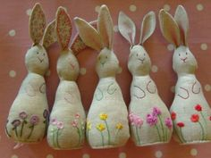 Hand embroidered bunnies from MarmaladeRose: June 2009