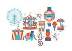 Check out circus is in town! by lyeyee on Creative Market