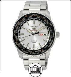 Seiko SRP123K - Reloj analógico automático para hombre con correa de acero inoxidable, color plateado de  ✿ Relojes para hombre - (Gama media/alta) ✿