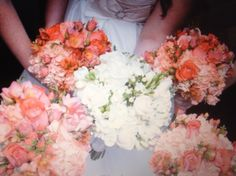 Coral combination pictured with the matching bridal. What a statement. Wedding Designs, Floral Wreath, Coral, Wreaths, Bridal, Pictures, Decor, Decorating, Flower Crowns
