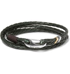 Paul Smith Shoes & Accessories - Woven-Leather Wrap Bracelet|MR PORTER