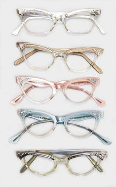 All five pairs of glasses