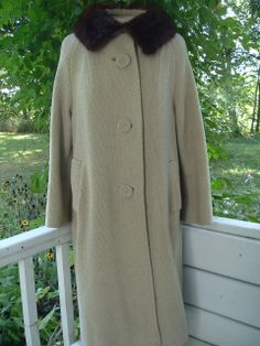 Vintage 60's Ladies Fur Collared Coat. Mad Men Style. by Gilfe, $20.00