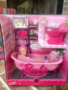 Barbie Fashion Fever My Dream Doll House Mansion Furniture Glam Bathtub Toilet   eBay