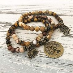 Men's Tiger Eye and Picture Jasper Charms Bracelets Set Tiger Eye Jewelry, Tiger Eye Bracelet, Ankle Bracelets, Jewelry Bracelets, Cheap Silver Rings, Jasper Gemstone, Bracelet Set, Sterling Silver Bracelets, Gemstones