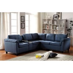 Flat Pack Box  Reversible Sectional WIth Console u2013 Tufted Seat Back Plastic Feet  sc 1 st  Pinterest : la z boy reese sectional - Sectionals, Sofas & Couches