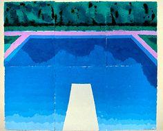 David Hockney (British, b. Bradford, Yorkshire, England) - Autumn Pool, 1978 Colored and Pressed Paper Pulp David Hockney Pool, David Hockney Artist, David Hockney Paintings, Pop Art Movement, Art World, New Art, Sculpture Art, Illustration Art, Sketches