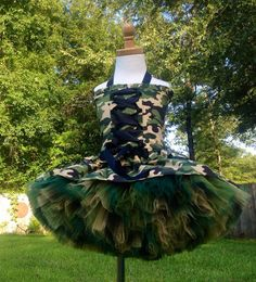 Custom  camo cutie in army tutu dress pageant, party patriotic ooc theme wear costume 10 12 14 16 camouflage  on Etsy, $129.00