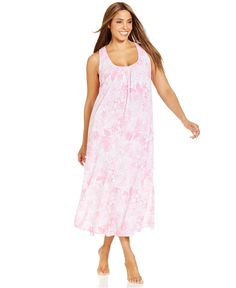 Lauren Ralph Lauren Plus Size Long Floral Nightgown - Bras, Panties & Shapewear - Women - Macy's
