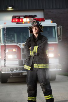 Senior Pictures - volunteer firefighter