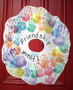 Friendship wreath for our front door :)