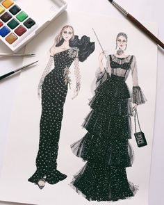 Best Ideas Fashion Ilustration Sketches Dresses Design Inspirational - Best Ideas Fashion Ilustration Sketches Dresses Design Inspirational - - Fashion illustration of woman in red polka dot top Digital Dress Design Sketches, Fashion Design Sketchbook, Fashion Design Drawings, Fashion Sketches, Drawing Sketches, Fashion Drawing Dresses, Fashion Illustration Dresses, Drawing Fashion, Fashion Artwork