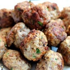 Gouda Stuffed Meatballs-( sounds Yumm, Im going to try one day with the Smoked Gouda)