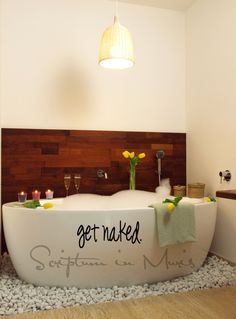 Get Naked Vinyl Bathroom Decal