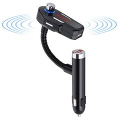 Bluetooth Car FM Transmitter Dual USB 2.4A/1A Car Charger Hands-free Car Kit For iPhone HTC Android