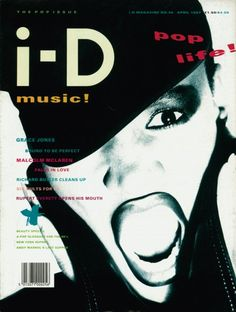 46. The Pop Issue April 1987    Grace Jones  Photography by Nick Knight