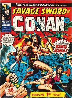 Marvel UK's Savage Sword of Conan #1, from 1975.  #MarvelUK #Conan