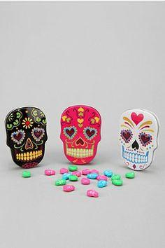 DIA DE LOS MUERTOS/DAY OF THE DEAD~Sugar Skull Candy Tin