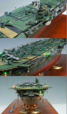 """IJN aircraft carrier Zuikaku model with working """"lights""""....."""