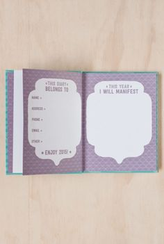Write To Me - Manifest 2015 Diary Planner - Weekly - A5 (15x19cm) - Hard Cover - Blue #2015diary #2015organisation #stationery #Notemaker #office