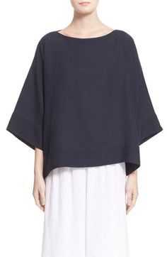 eskandar Belgian Linen Blouse available at #Nordstrom