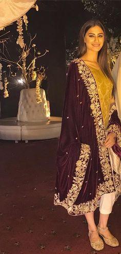 Love this Loose Comfortable Moroccan Jalbab with nice embroidery work Pakistani Wedding Outfits, Pakistani Dresses, Indian Dresses, Indian Outfits, Pakistani Couture, Ethnic Fashion, Asian Fashion, Eastern Dresses, Shadi Dresses