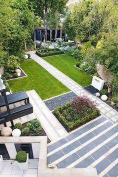 Modern Landscaping By Anthony Paul Landscape Design: Modern Japanese Garden Design North London Modern Landscape Design, Modern Garden Design, Bamboo Landscape, Contemporary Landscape, Modern Design, Backyard Landscape Design, Garden Design Ideas, Creative Landscape, Landscape Plans