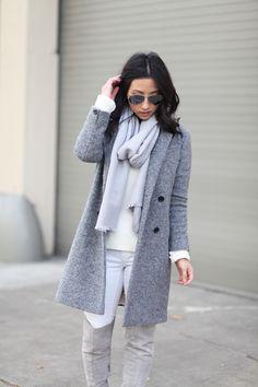 Zara grey coat For more women's fashion follow @ashmckni