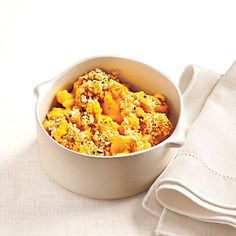 Creamy, Light Macaroni and Cheese - we turned to an unlikely hero for a boost: butternut squash. Combined with nonfat milk and Greek yogurt, the squash adds a rich, nutty flavor, sneaks in some vegetable, and brilliantly mimics the color and creaminess of cheddar sauce.