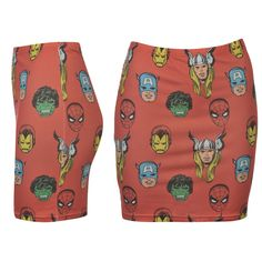 Sukně Character Tube Skirt Ladies Marvel