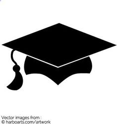 Drawing of a square academic cap with tassel. When final exam is over put on the graduation hat for the students ceremony .