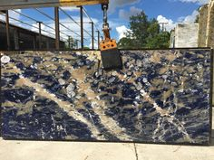 #LapisLazuli features intense ultramarine blue colors with accent of pyrite crystals. Here at #QualityStones we provide the best quality of stone. Come today and see our warehouse.  #fortmyers