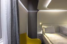WOOPY #chair design by Karim Rashid, in upholstered version. For Magic Hotel in Bergen, Norway. #interiordesign #interiors #KarimRashid