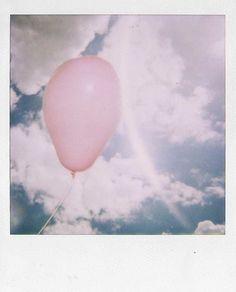 Balloon photo taken with polaroid