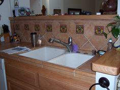 kitchen tile ideas for backsplash | chile pepper tiles - red