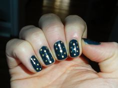 Denim colour with gold polka dots  :)