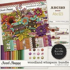 Woodland Whispers Bundle by Digilicious Design