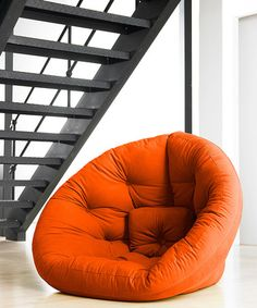 Take a look at this Orange Nest Convertible Futon Chair by Jaxx Bean Bags on #zulily today!