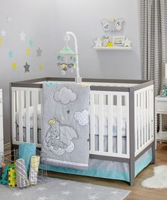 Look at this Dumbo Dream Big Three-Piece Crib Set on #zulily today!