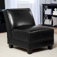 Canyon Leather Slipper Chair 249 98 Black Or Brown From Hayneedle