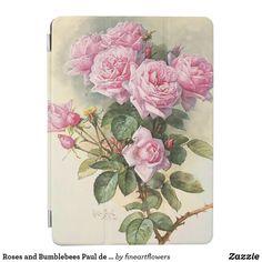 Roses and Bumblebees Paul de Longpre Fine Art iPad Air Cover Ipad Accessories, Ipad Air, Apple Ipad, Vintage Flowers, Ipad Covers, Pink Roses, Flower Art, Watercolor Paintings, Fine Art