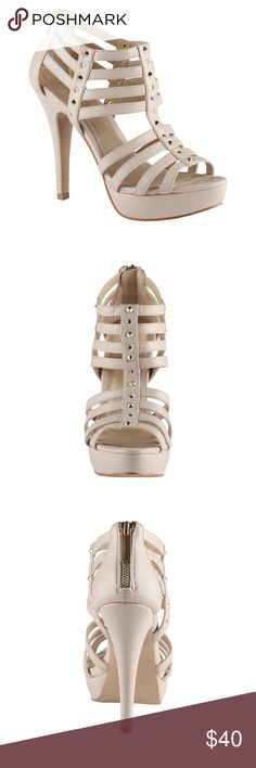 Selling this 🆕 Nude Heeled Sandals with Studs on Poshmark! My username is: bsamrout. #shopmycloset #poshmark #fashion #shopping #style #forsale #Aldo #Shoes