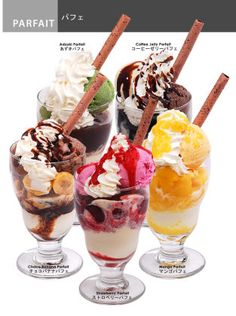 japanese ice cream parfait - Google Search